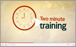 two minute training video Snack Size Videos